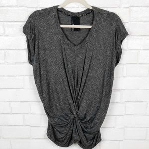 Anthropologie Dolan T-Shirt with Front Gather (M)